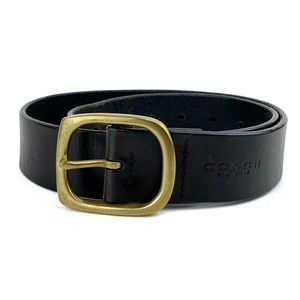 COACH Women's Black Leather Belt Size Small